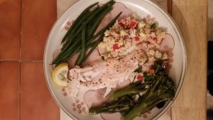 Sea bass and delicious extras